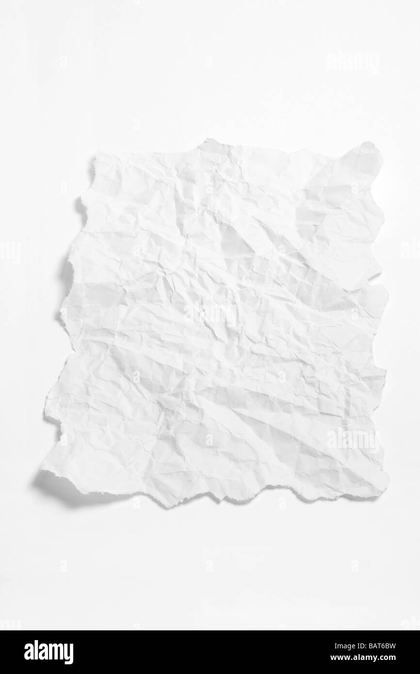 Crumpled Paper - Stock Image