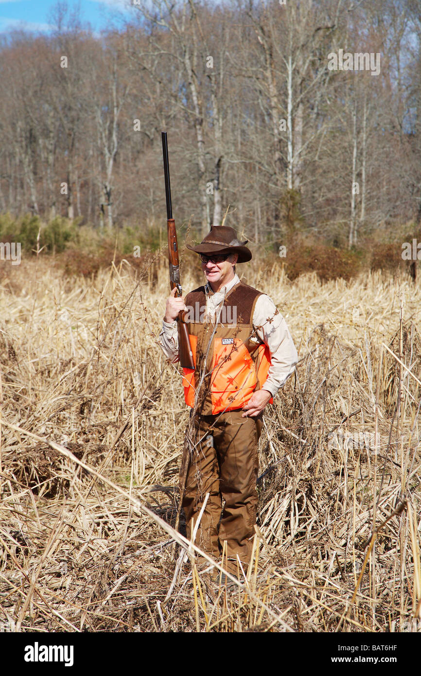 HUNTER TALL GRASS GUN UPRIGHT DANS BRIAR PROOF BLAZE VEST STETSON HAT ORVIS  SUNGLASSES GEORGIA 6341ae07f8a