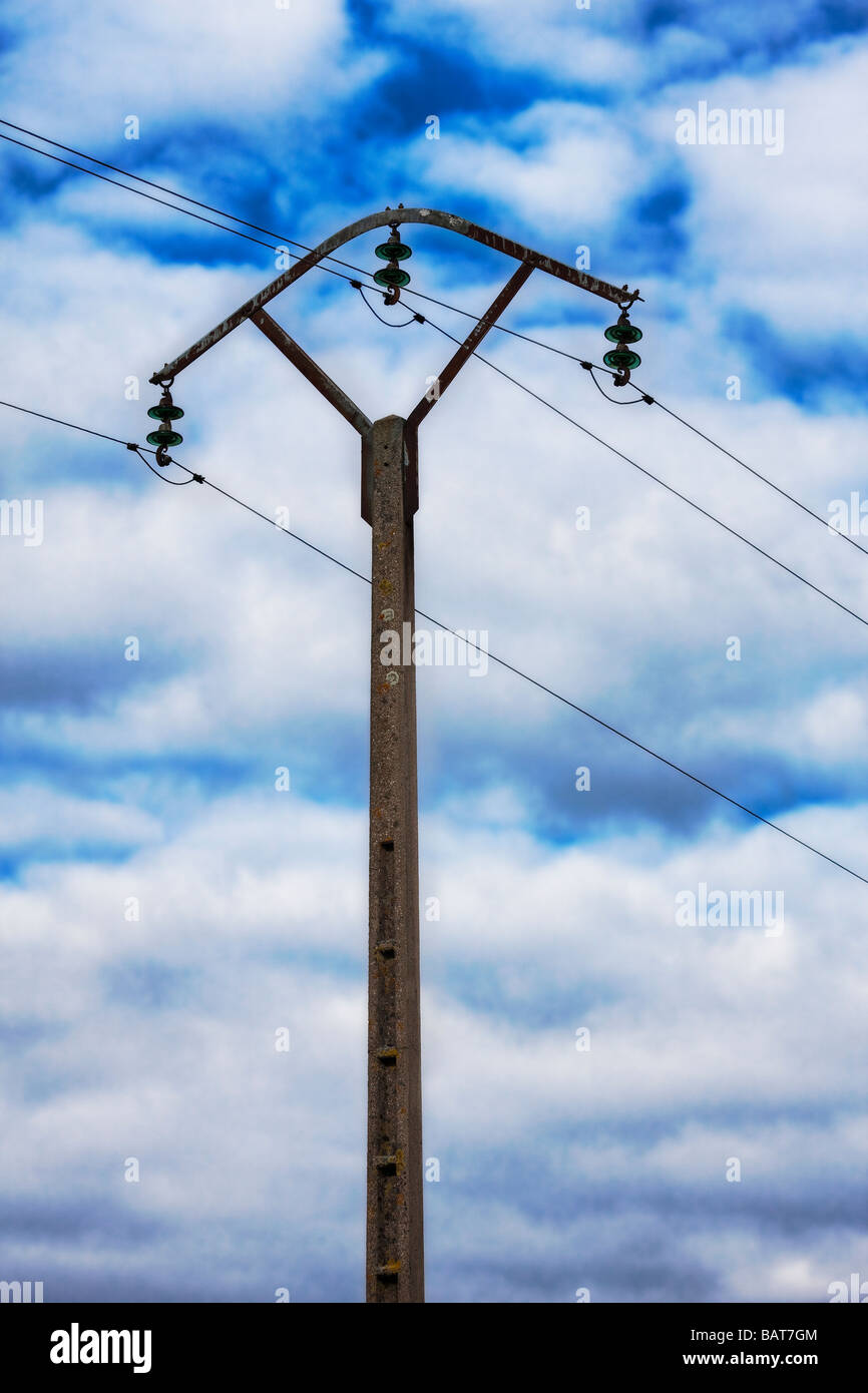 electric post - Stock Image