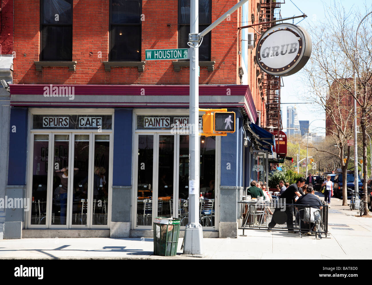 Silver Spurs Cafe Greenwich Village New York City - Stock Image