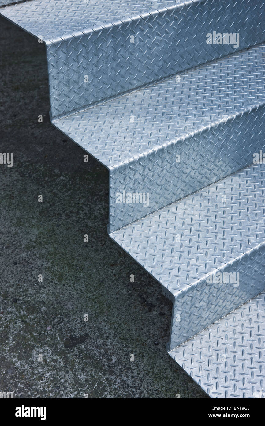 metallic staircase - Stock Image