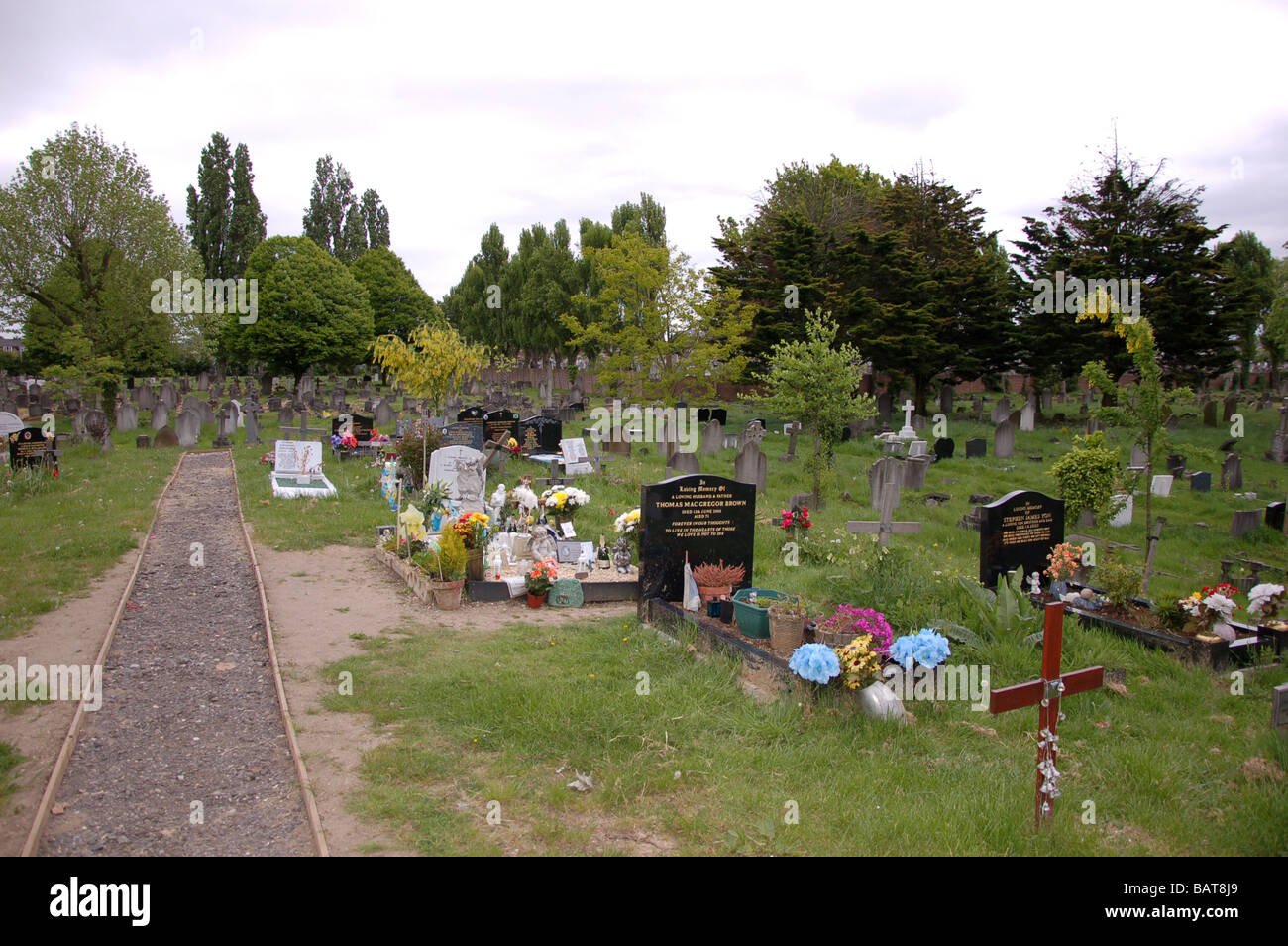 Roundwood Park Cemetery, Harlesden, London, England, - Stock Image