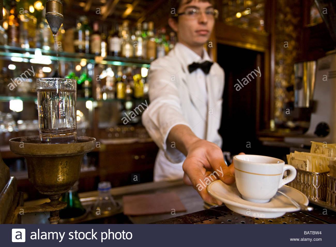 coffee  caff mulassano  turin  italy - Stock Image