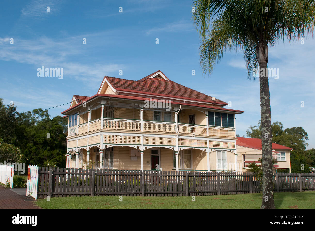 Victorian house with veranda Lismore NSW Australia - Stock Image