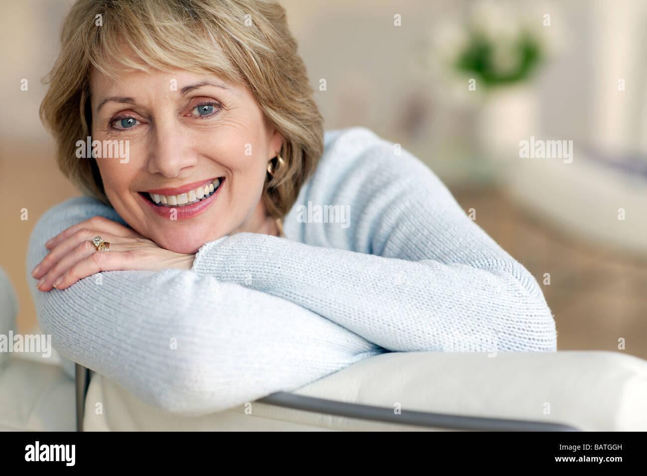 Happy woman. - Stock Image