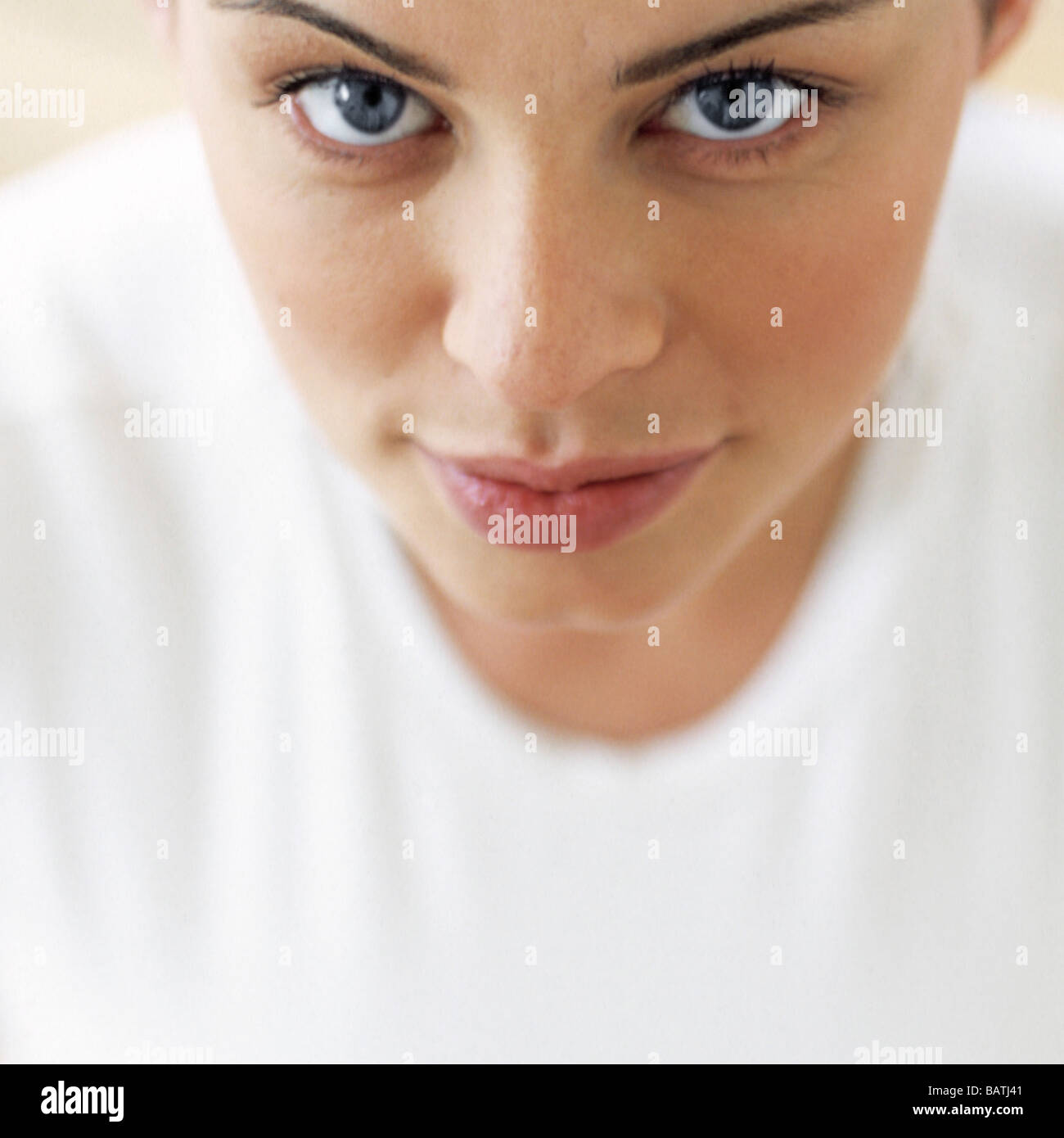 Close up portrait of a woman aged between 25 and 30 years. - Stock Image
