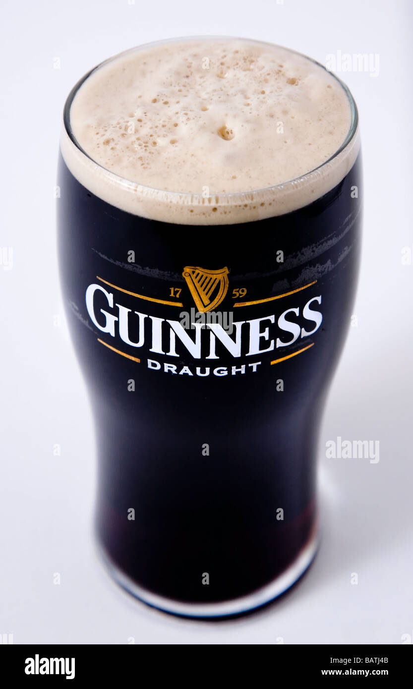 pint guinness ireland - Stock Image