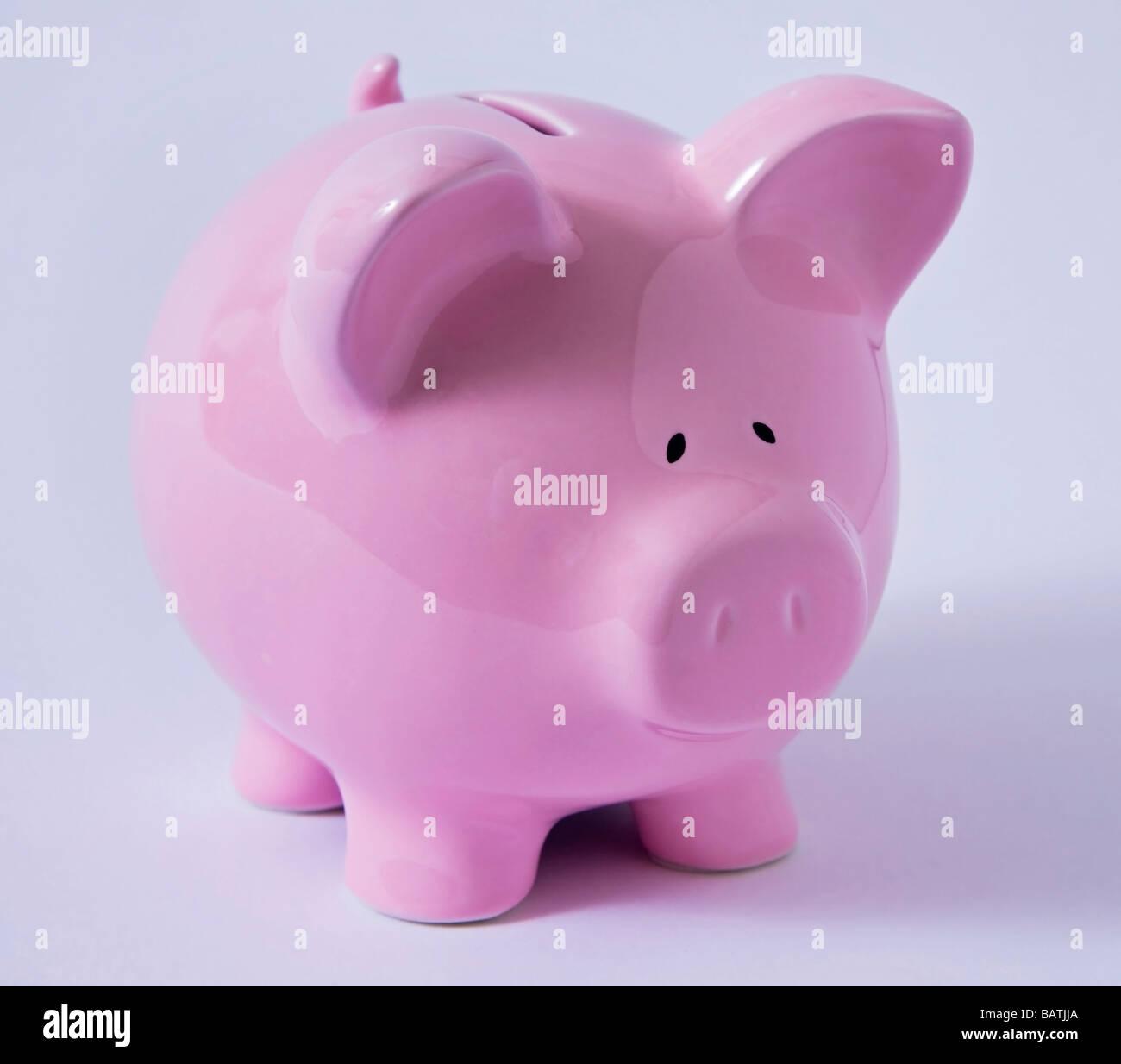 piggy bank pink 'money box' - Stock Image