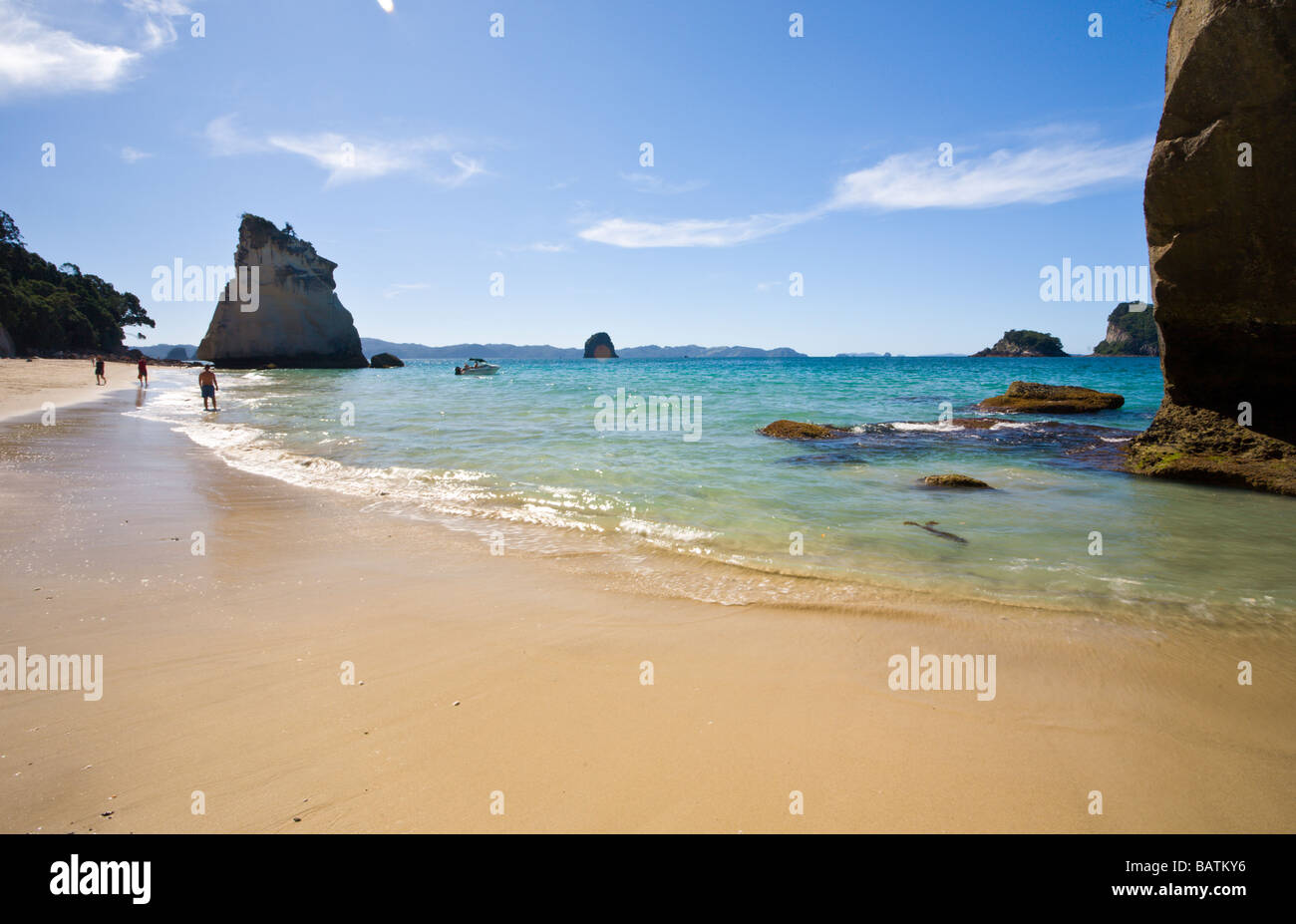 Catheral Cove North Island New Zealand - Stock Image
