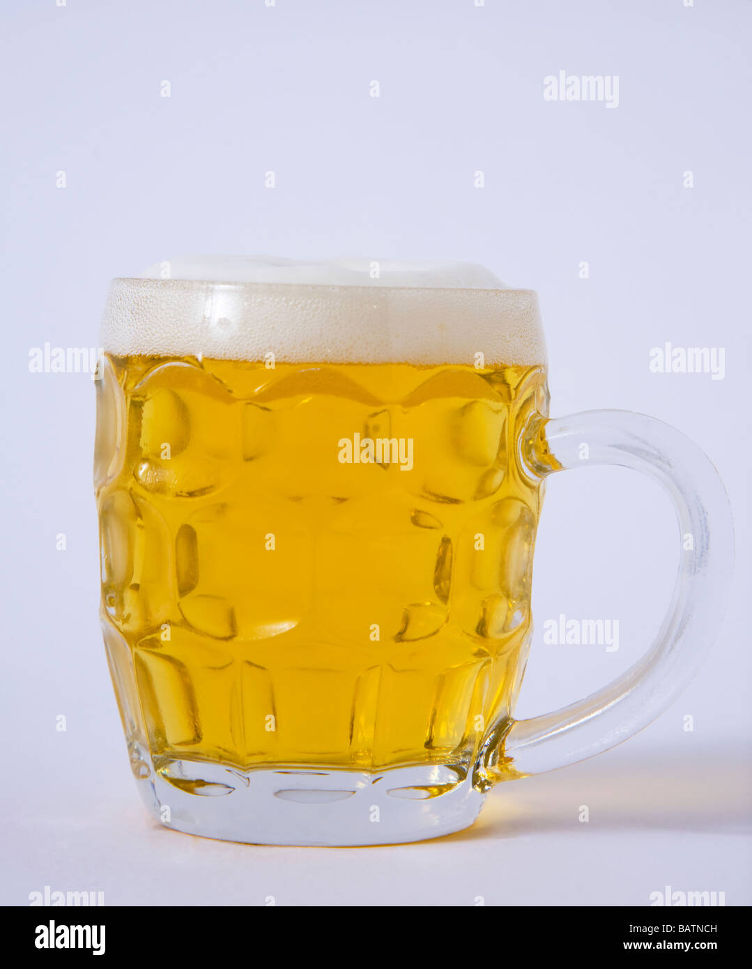 pint beer larger - Stock Image