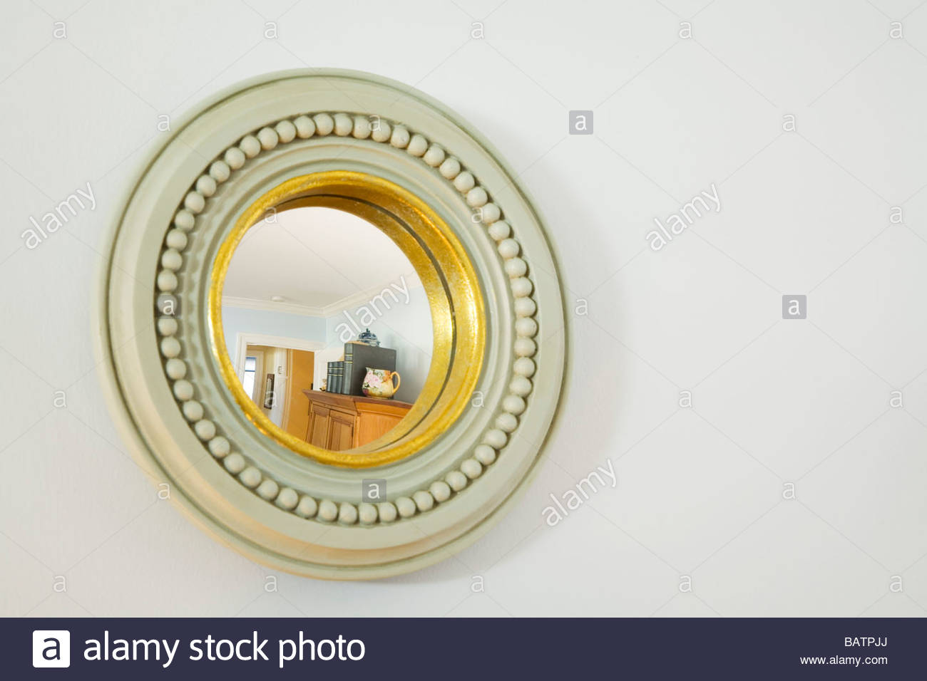 Small Round Decorative Mirror Stock Photo 23901546 Alamy