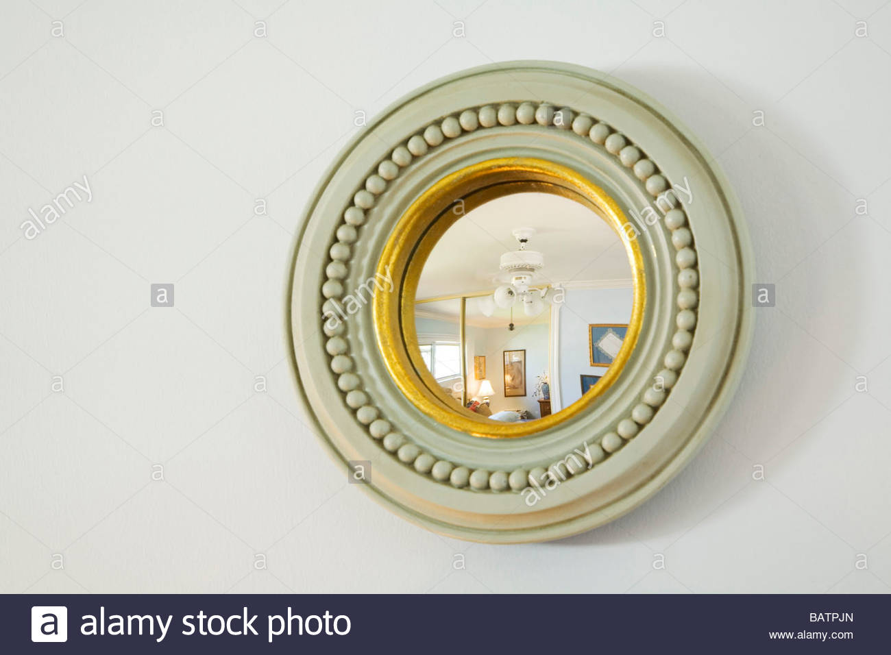 Small Round Decorative Mirror Stock Photo 23901549 Alamy