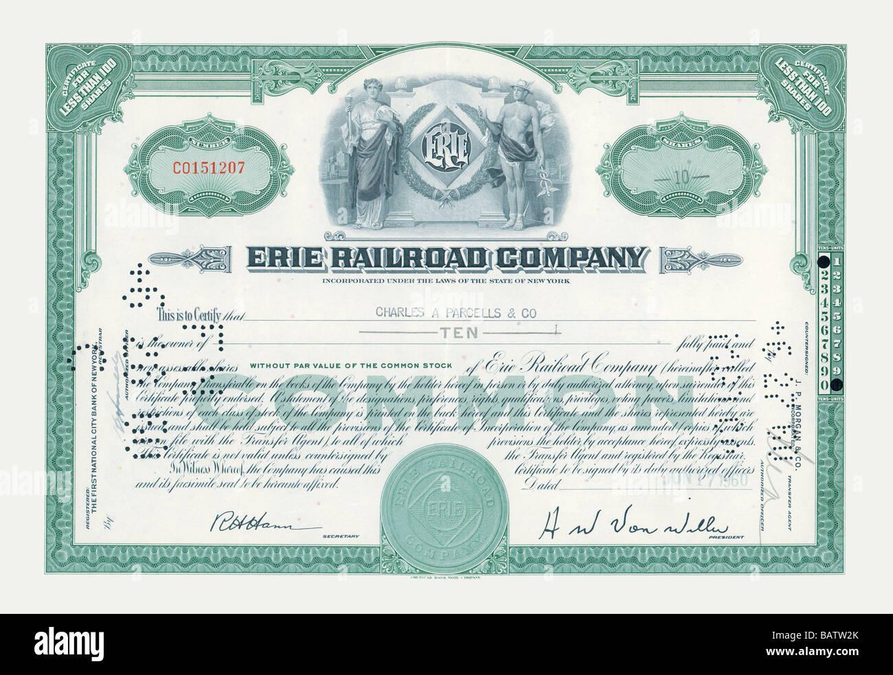 Lehigh Valley Railroad Bond Stock Certificate Pennsylvania