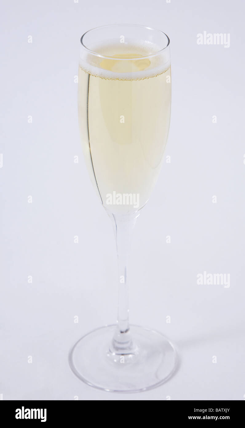 glass champagne - Stock Image