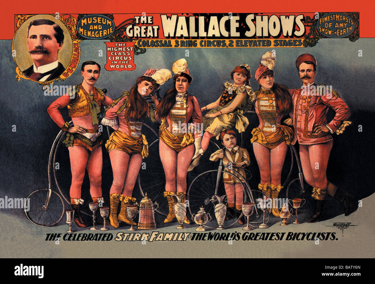 The Celebrated Stirk Family: Wallace Shows - Stock Image
