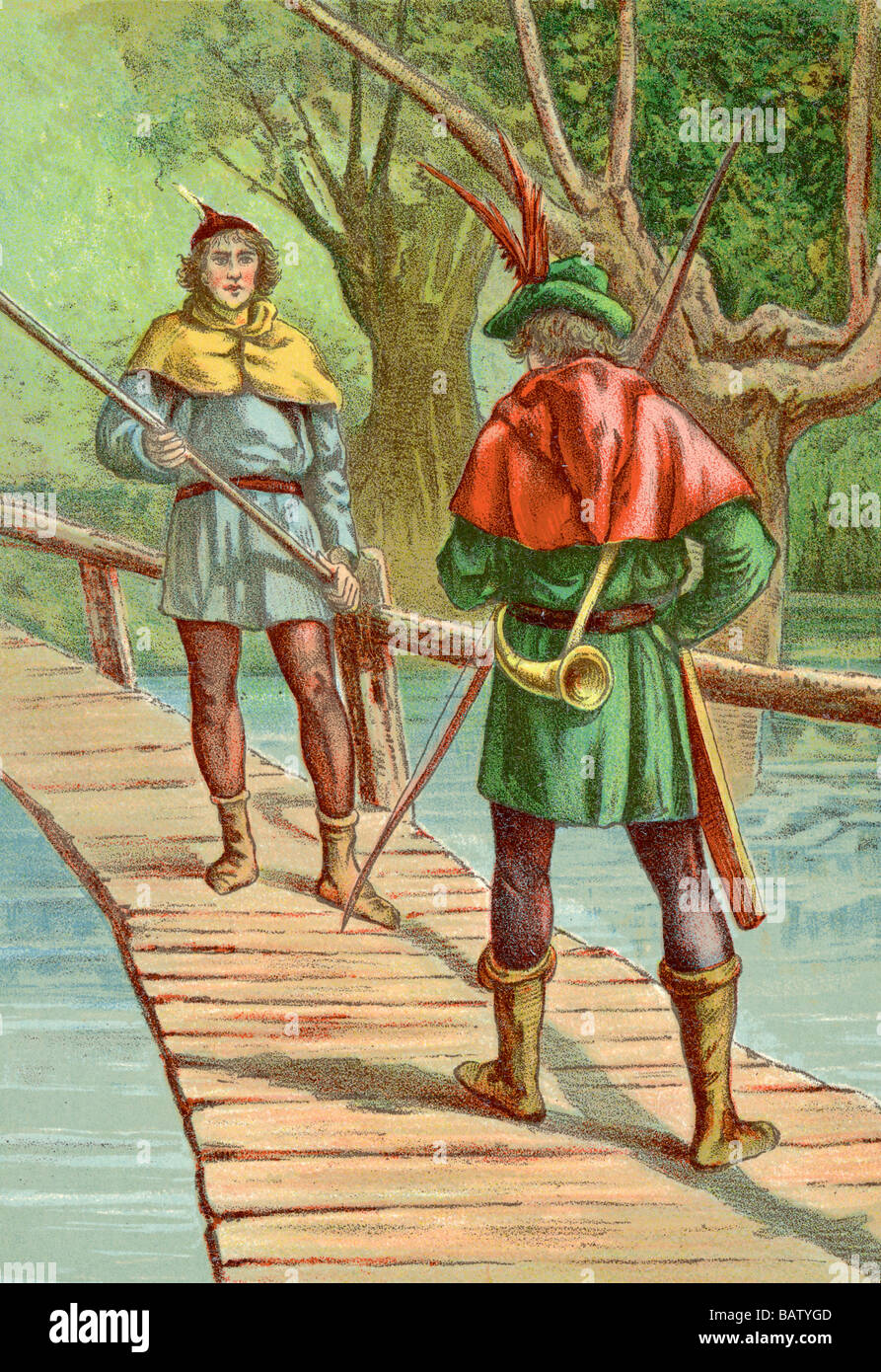 Robin Hood: Encounter With a Giant - Stock Image