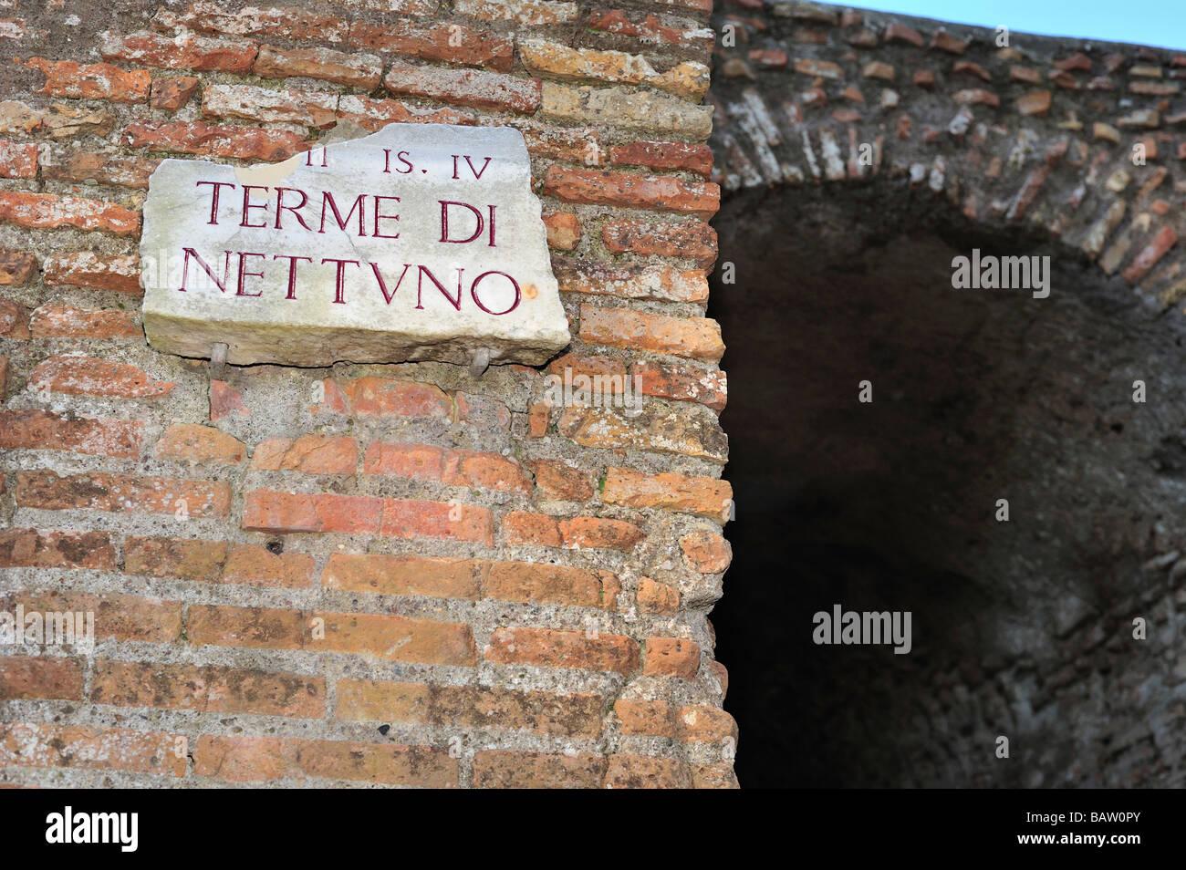 Terme di Nettuno, Ostia Antica, Province of Rome, Lazio, Italy - Stock Image