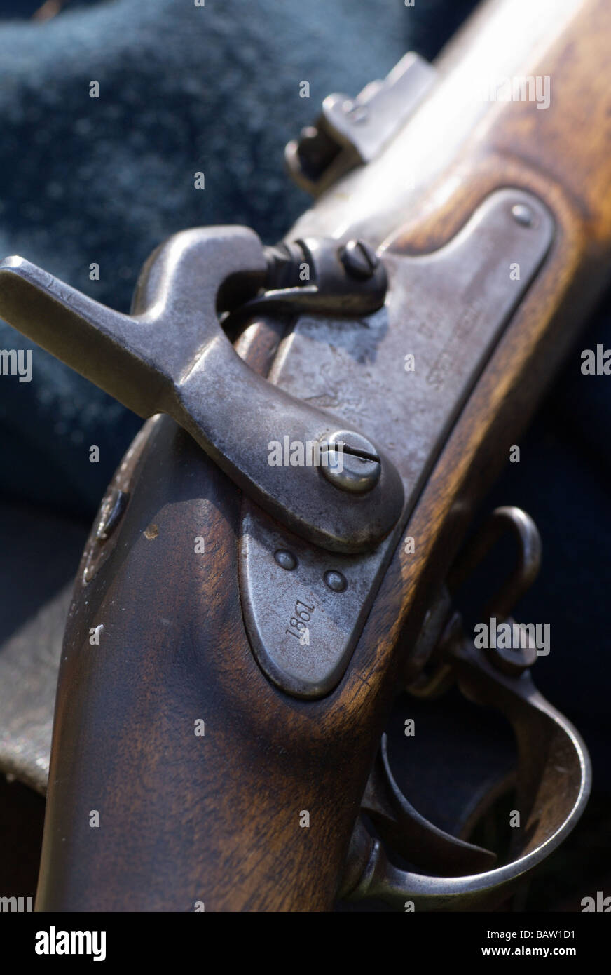 1861 Springfield Arms Rifle (American Civil War relic Stock