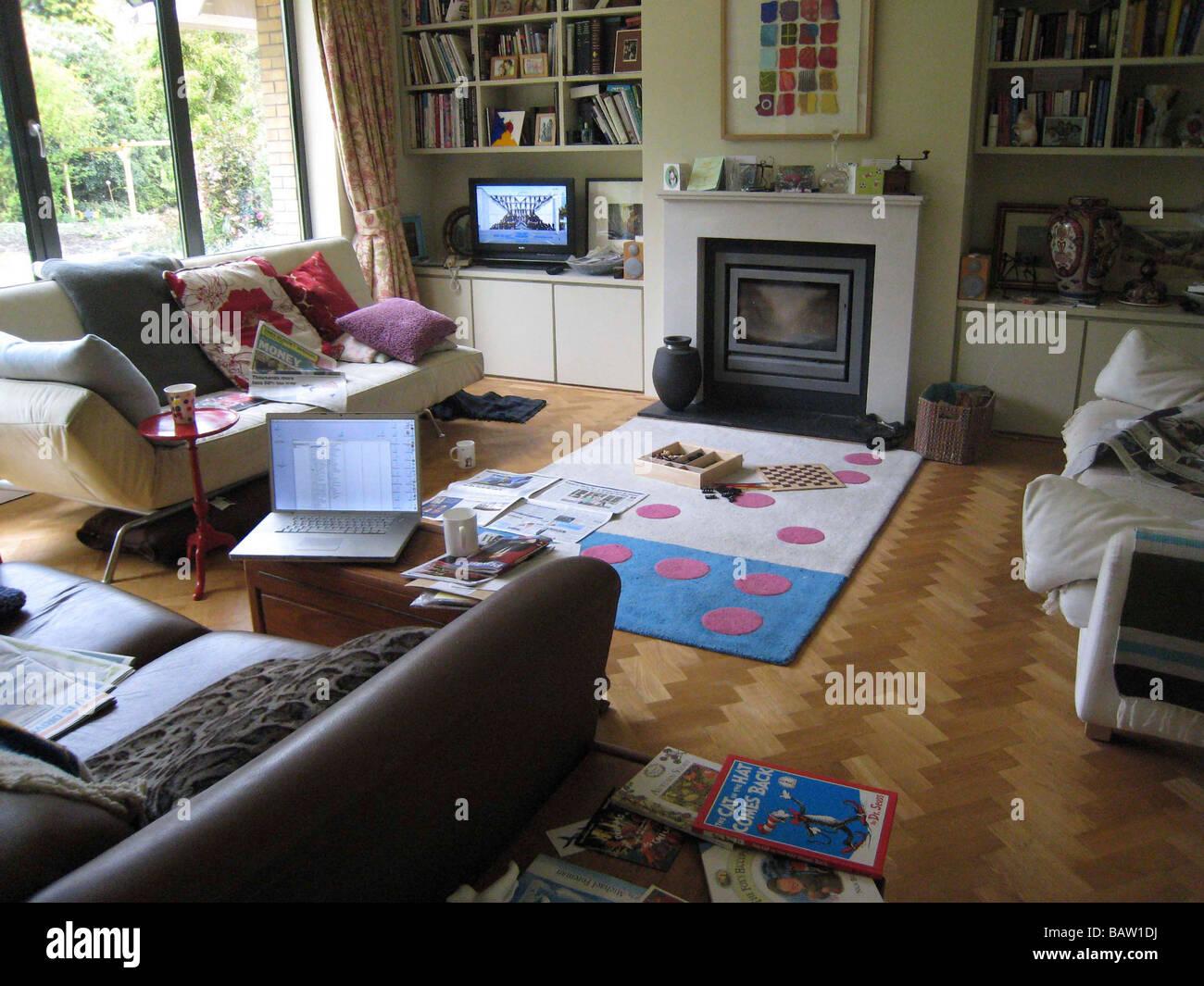 messy family living room Stock Photo 23906894 Alamy