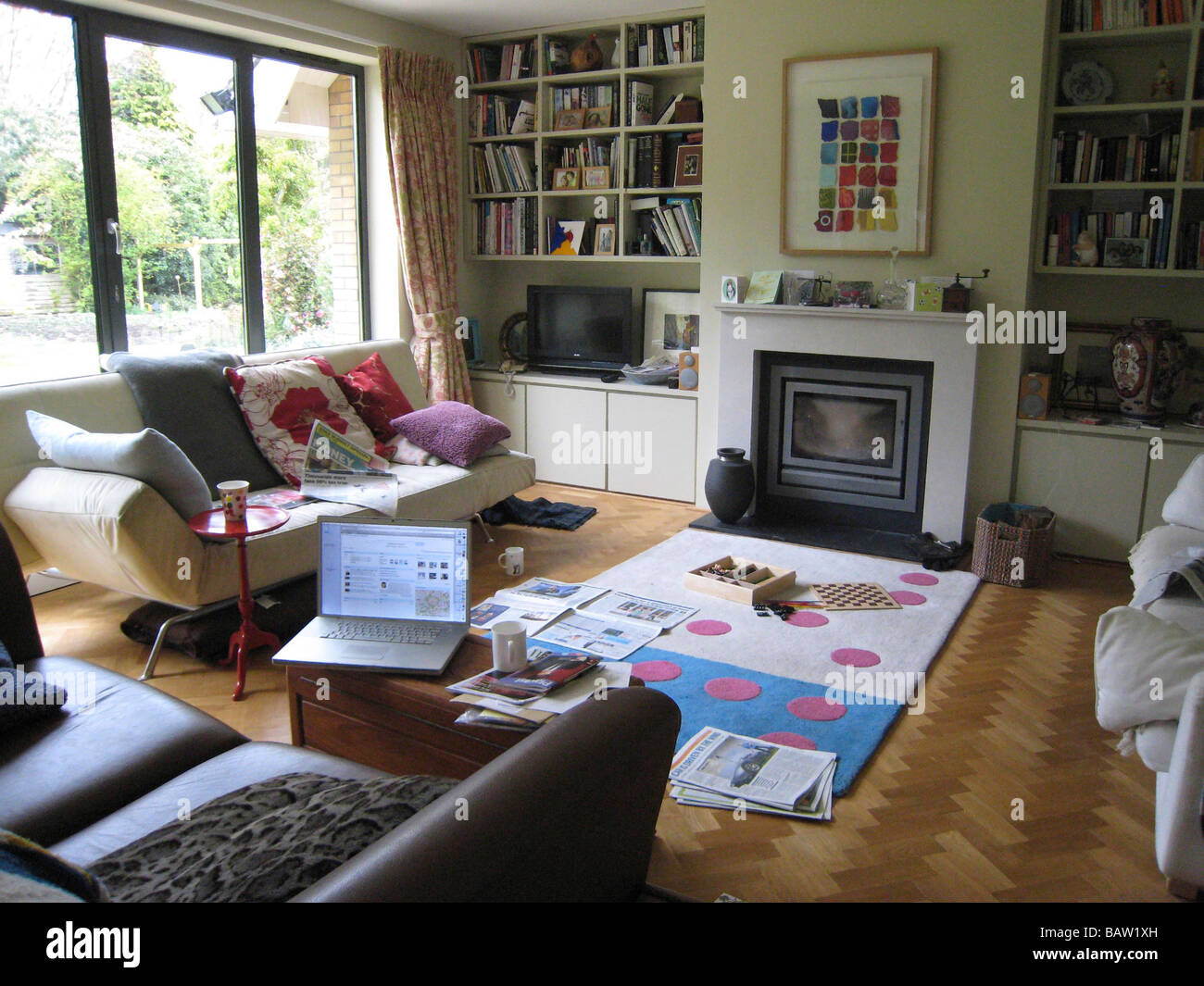 messy family living room Stock Photo 23907257 Alamy