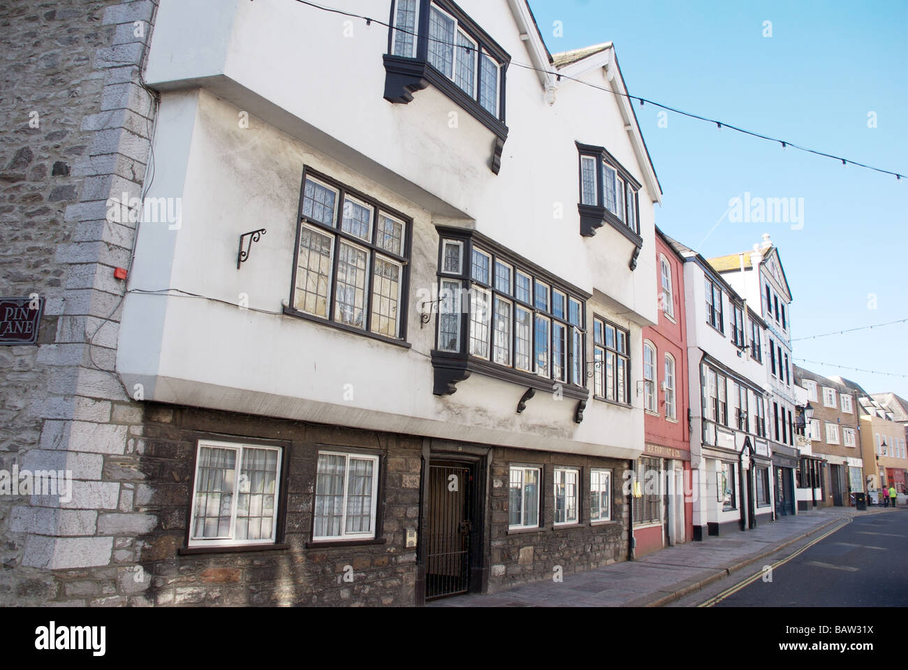 Barbican Street Plymouth England Uk Stock Photos