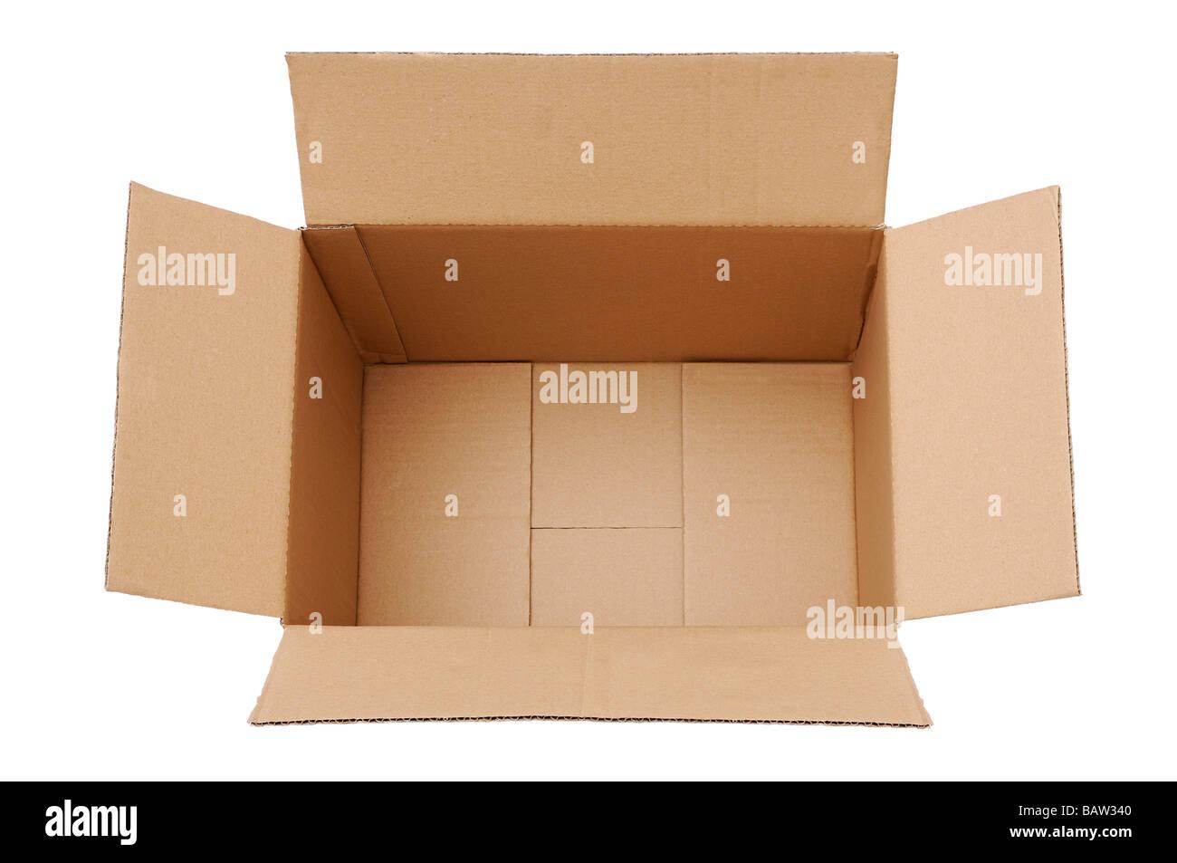 Empty Cardboard Box - Stock Image
