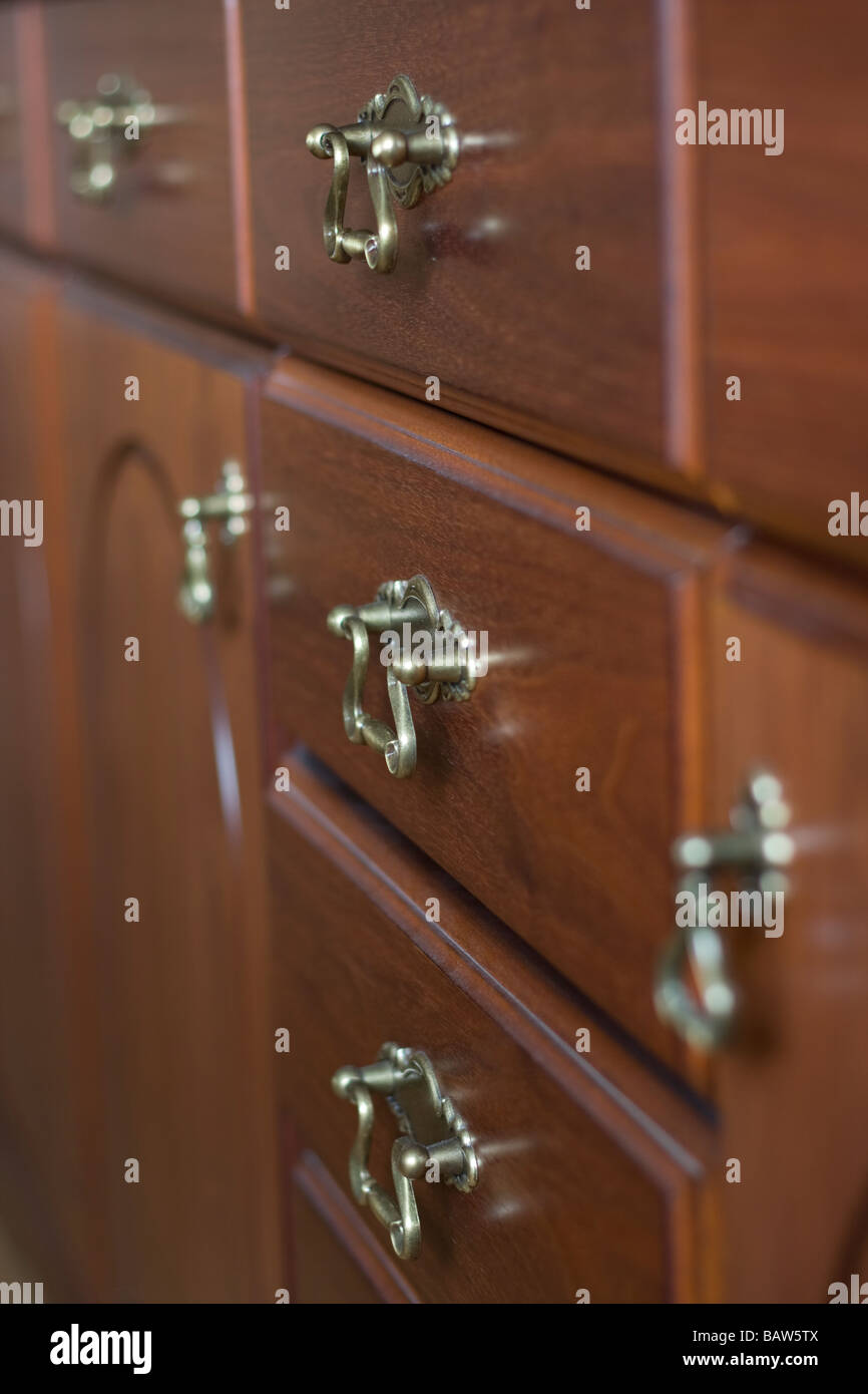 close up of antique drawer handles Stock Photo: 23910346 - Alamy