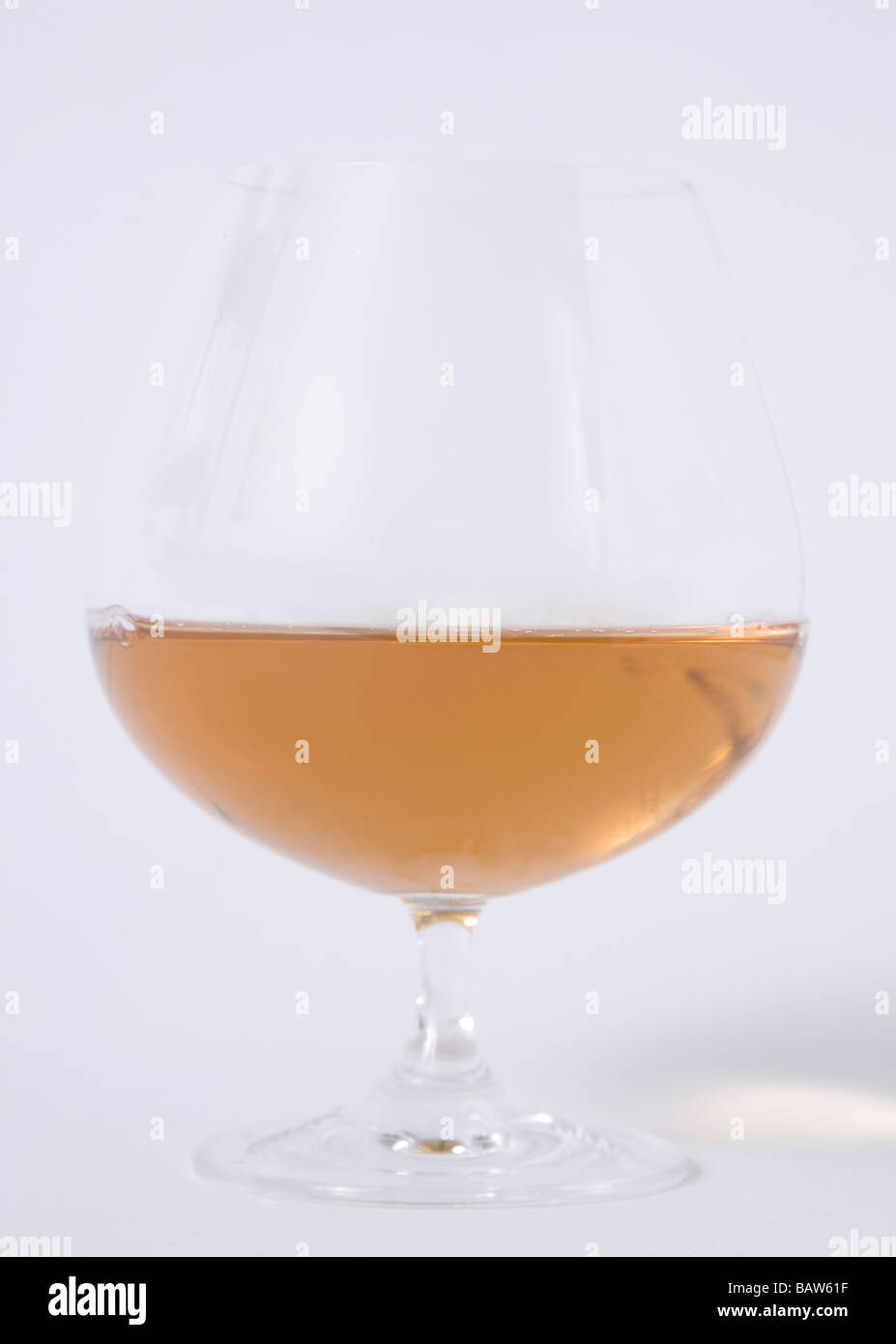 glass brandy cognac Stock Photo