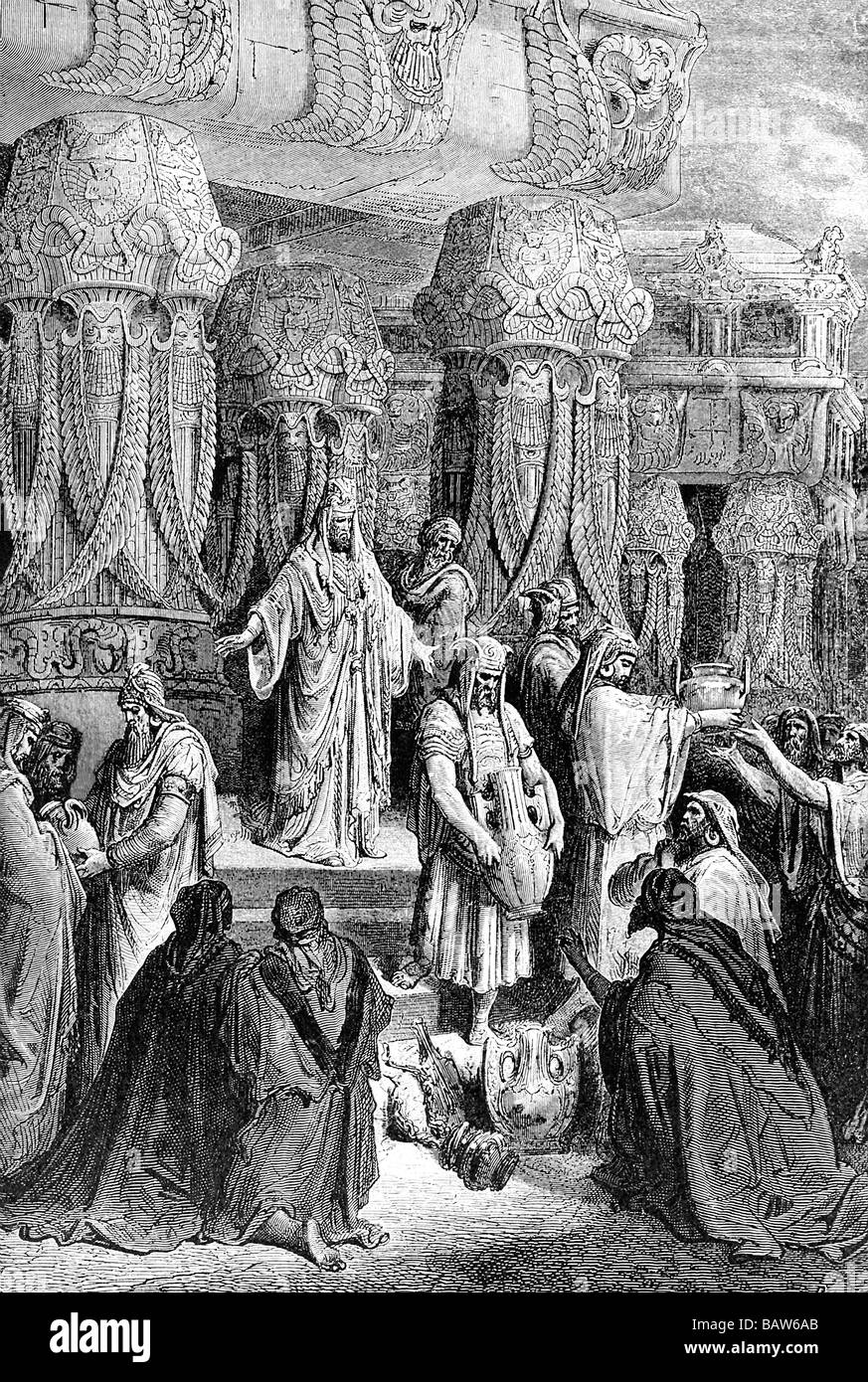 Cyrus Restoring Sacred Vessels - Stock Image