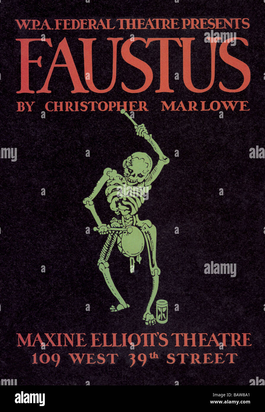 Faustus Presented by WPA Federal Theater Division - Stock Image