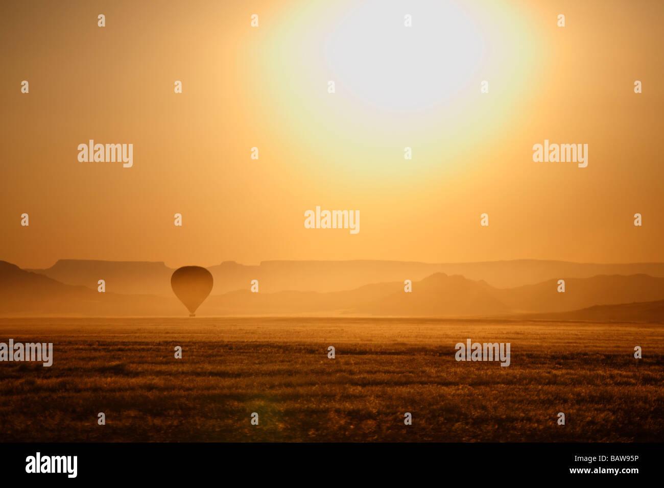 Baloon at dawn, Namib Naukluft National Park, Namibia - Stock Image