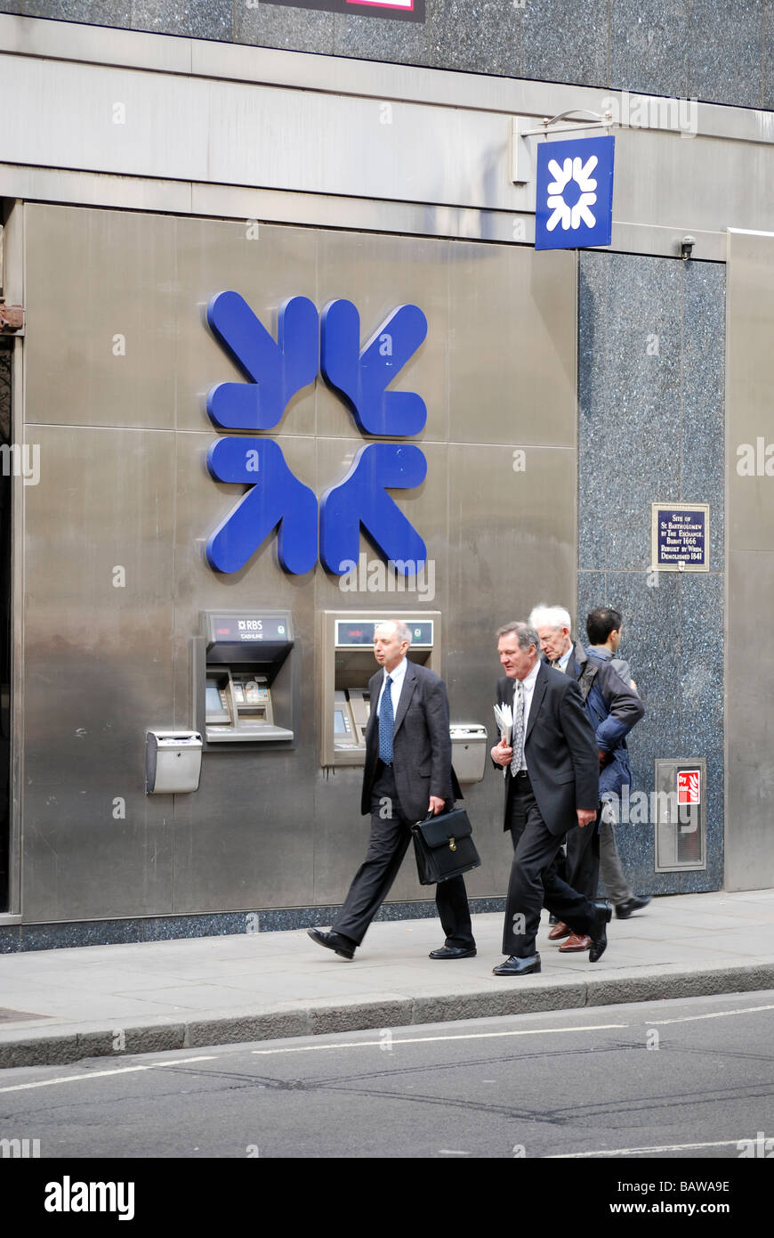 RBS Royal Bank of Scotland cash point Bankers - Stock Image