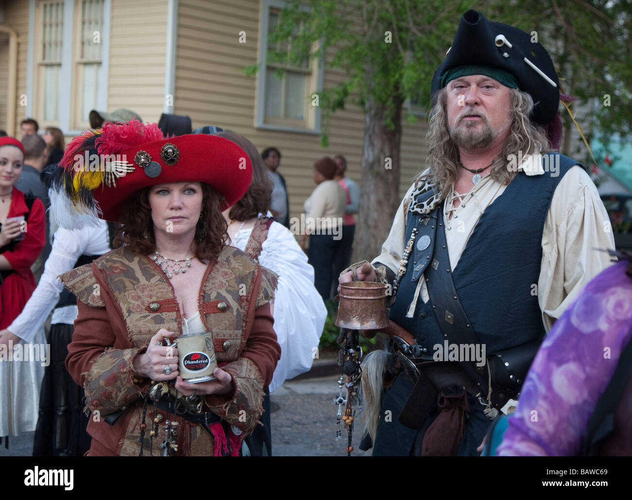 Pirates Parade in New Orleans - Stock Image