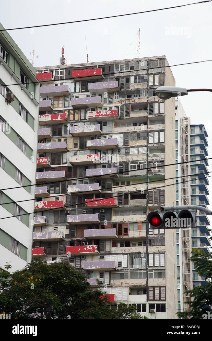 Cuba Hi rise building in Havana - Stock Image