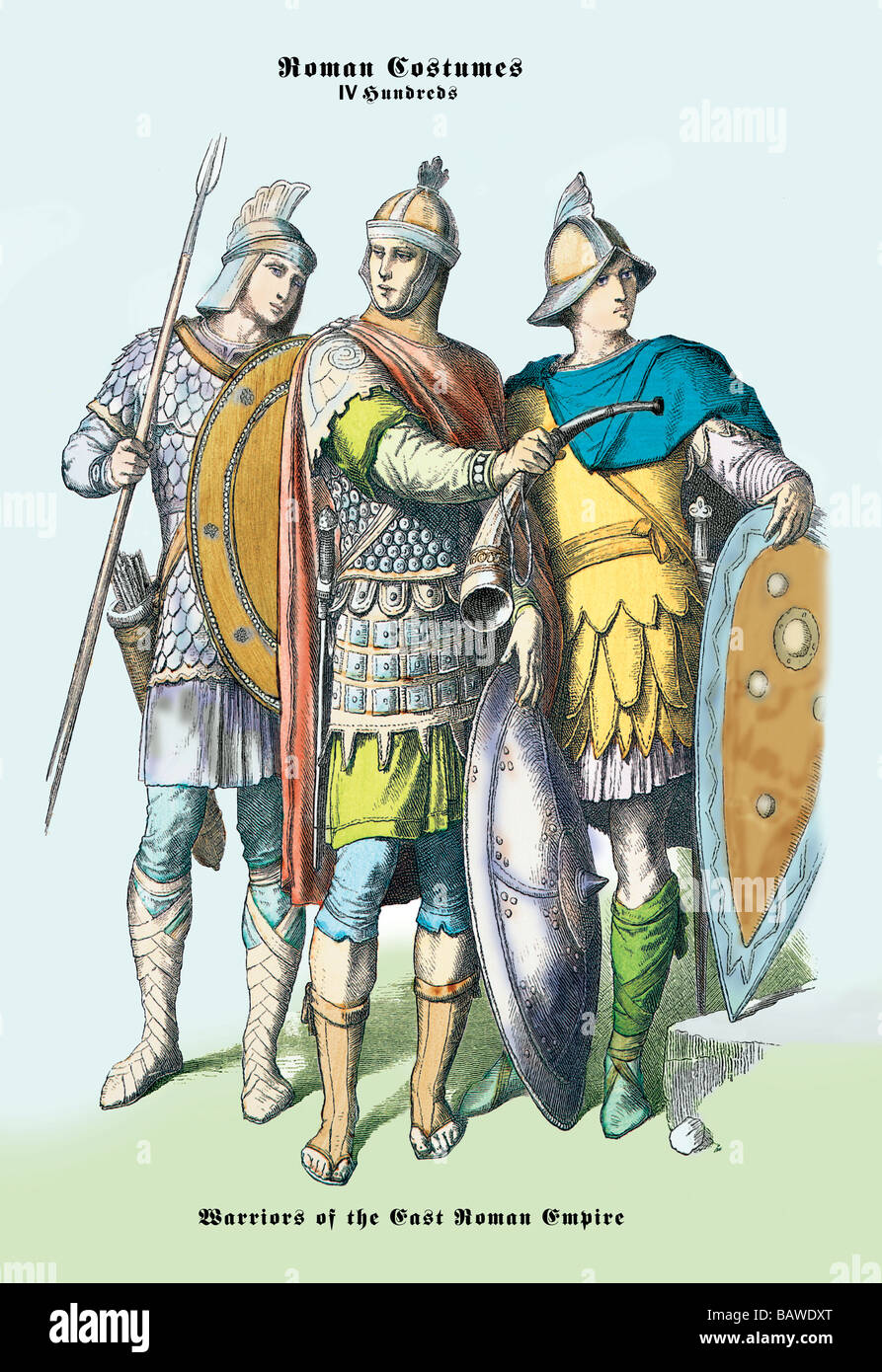 Roman Costumes Warriors of the West Roman Empire  sc 1 st  Alamy & Roman Costumes: Warriors of the West Roman Empire Stock Photo ...