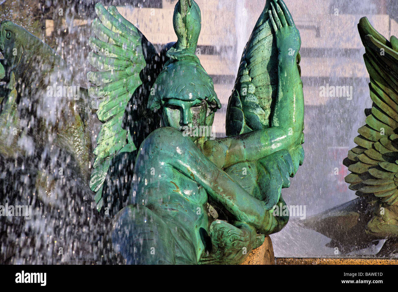 Swann Fountain in Logan's Circle Philadelphia Pennsylvania - Stock Image