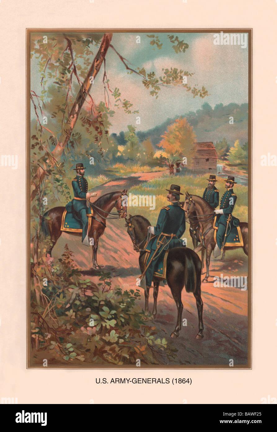 U.S. Army Generals,1864 - Stock Image