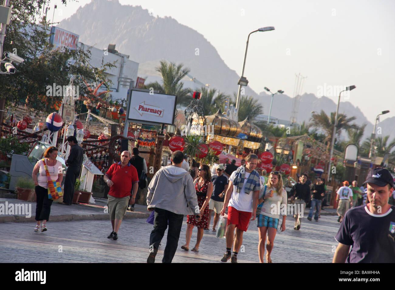 sharm el sheikh street scene by day - Stock Image