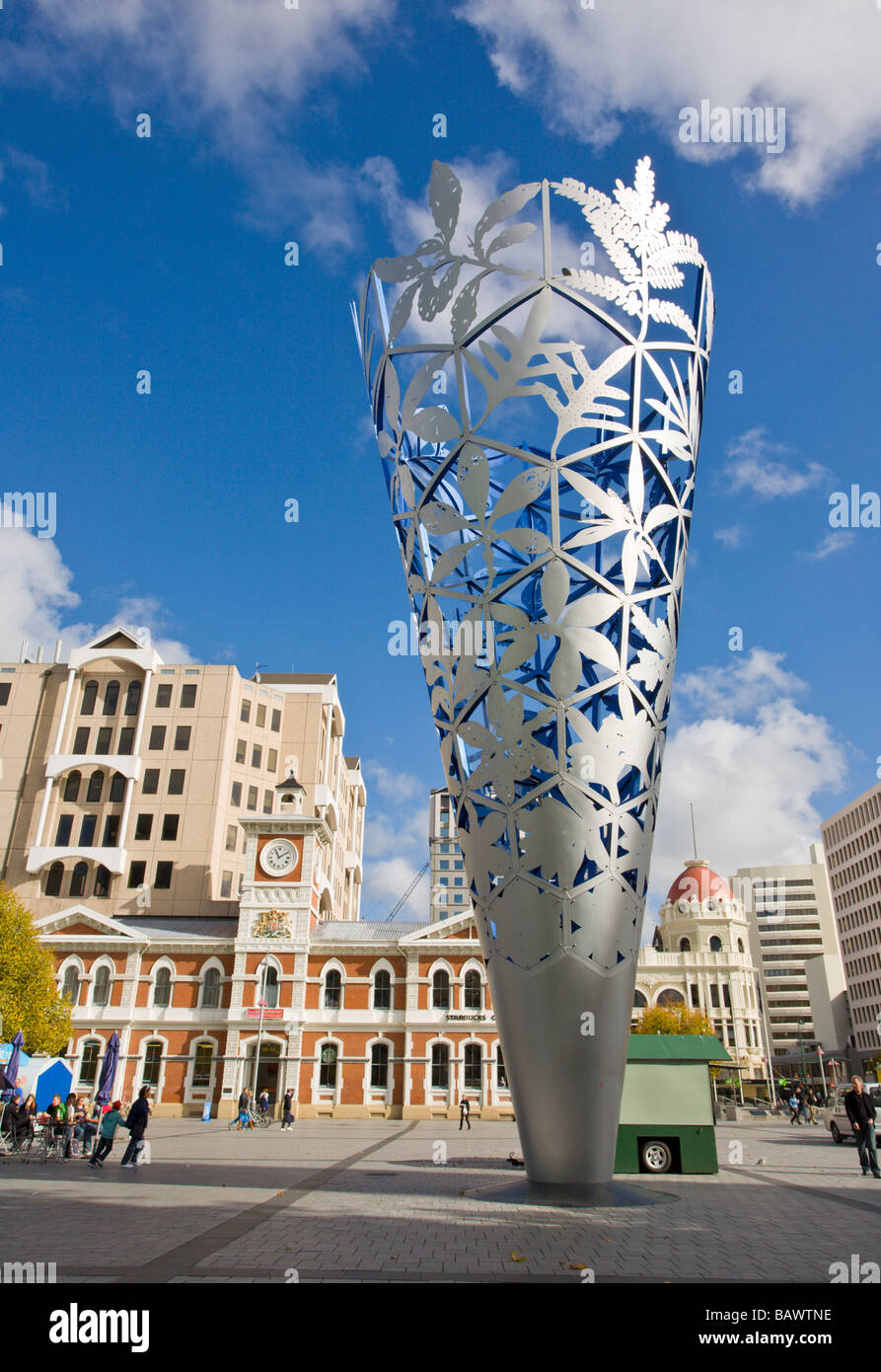 The Chalice Cathedral Square Christchurch Canterbury South Island New Zealand - Stock Image