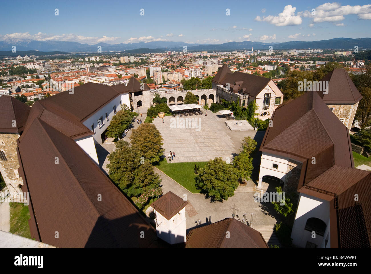 Ljubljana Castle Interior - Stock Image
