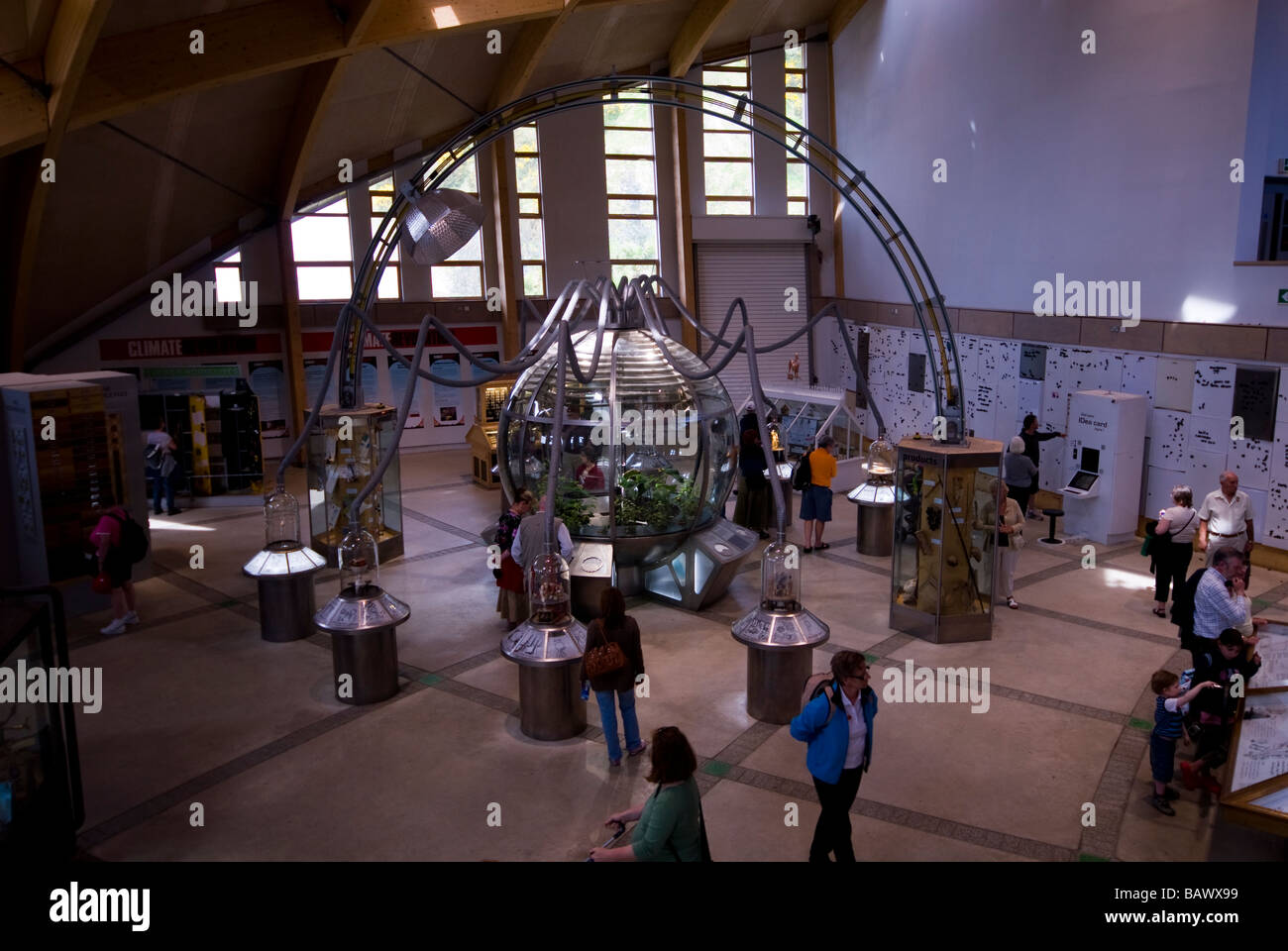Exhibition Hall in Core Building at Eden Project Stock Photo