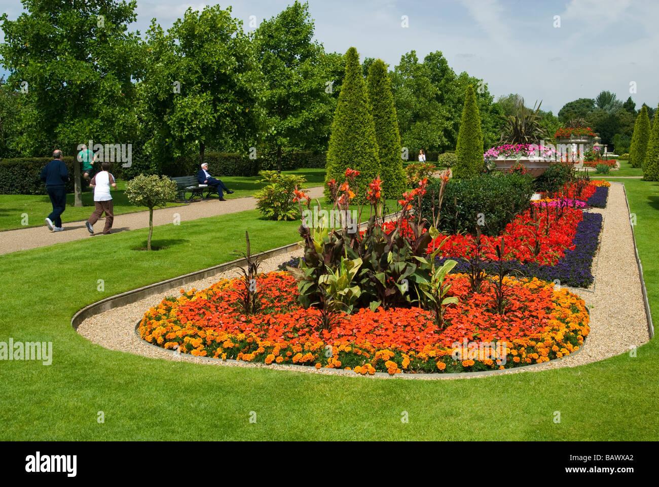Summer Flowers in Regent's Park Stock Photo