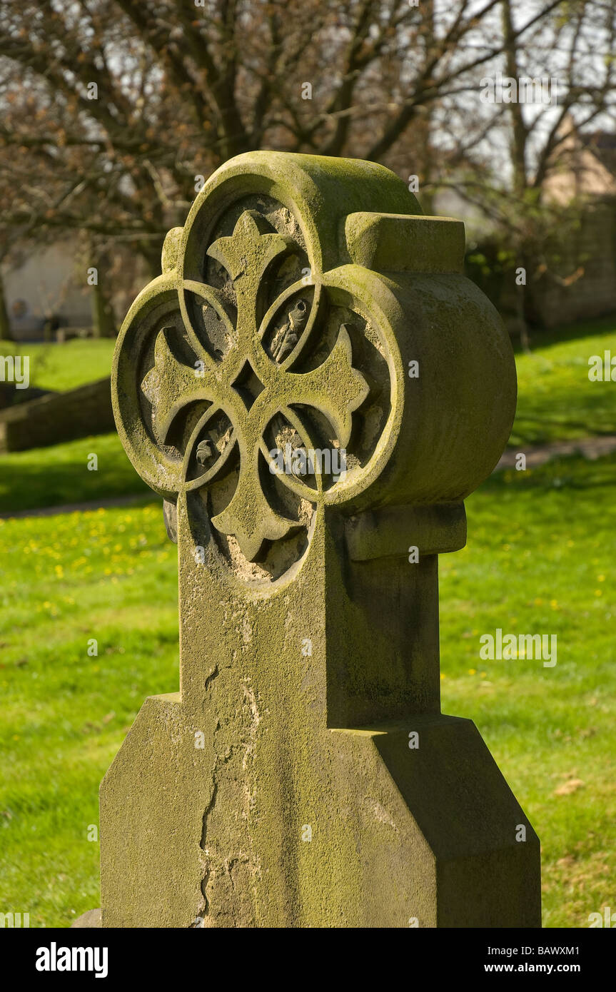Headstone in the graveyard of Ripon Cathedral Ripon North Yorkshire England UK United Kingdom GB Great Britain - Stock Image