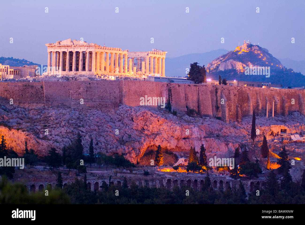 The Parthenon Acropolis Athens Greece - Stock Image