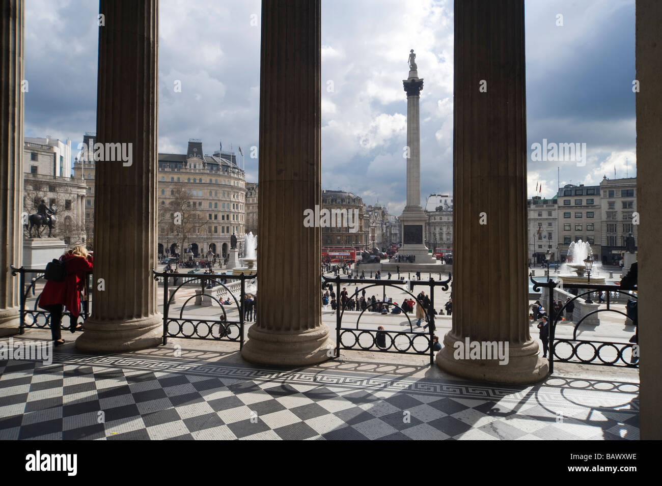 Portico at National Gallery - Stock Image
