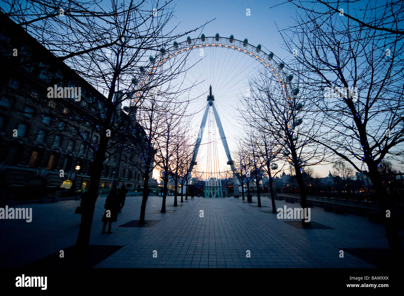 London Eye on the Southbank beside the river Thames London England UK Stock Photo