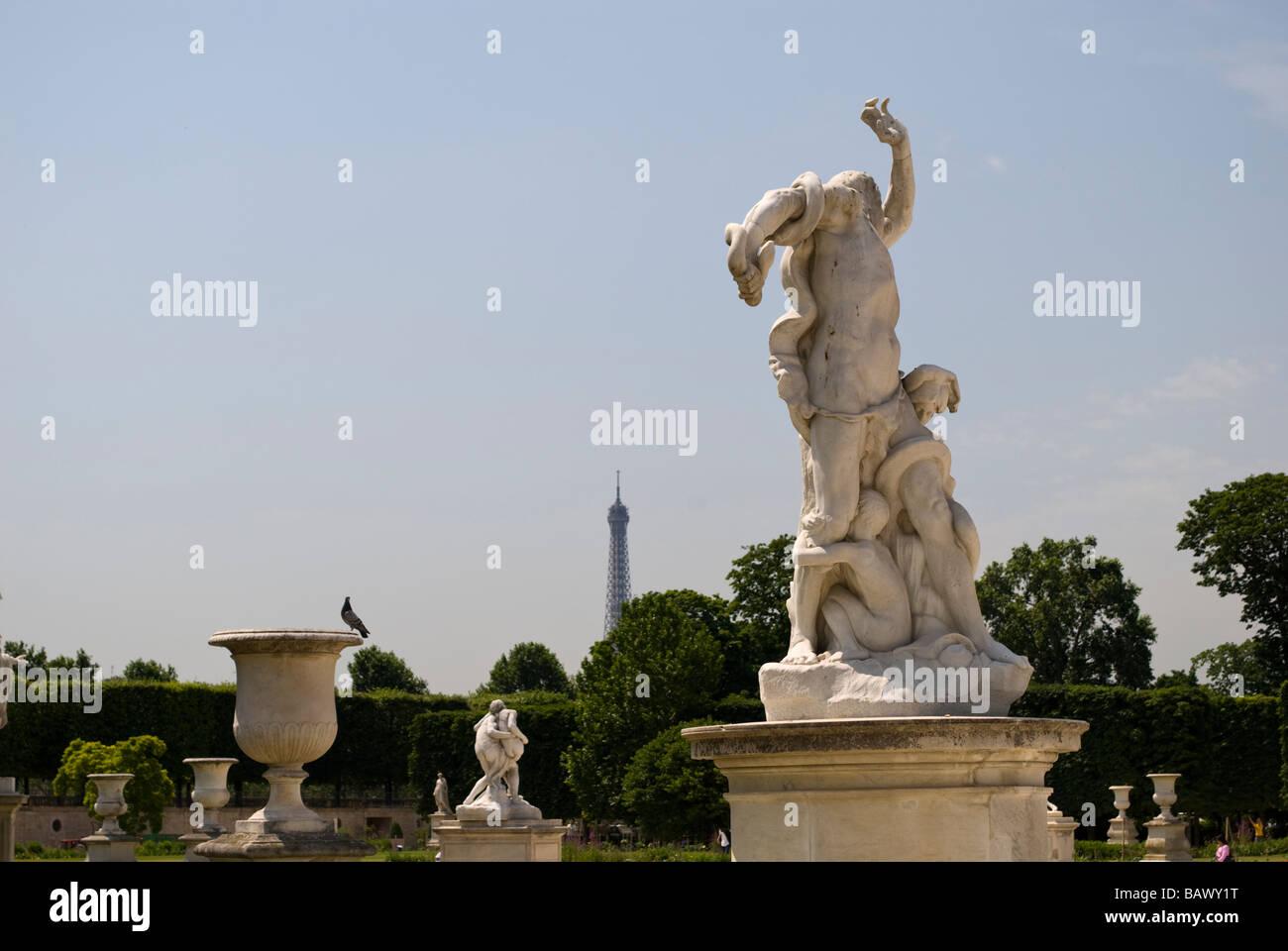 Statue in Jardin des Tuileries - Stock Image
