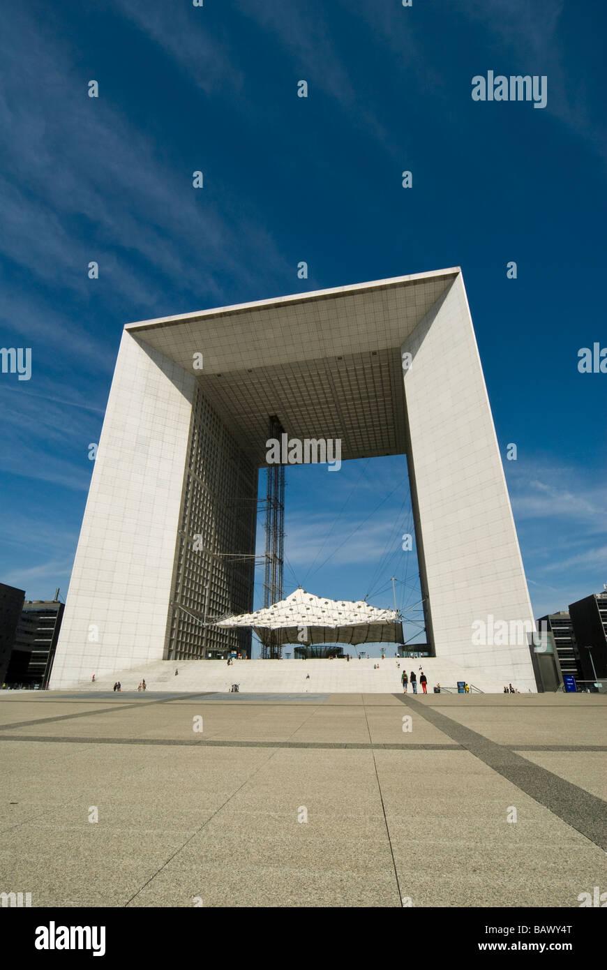 La Grande Arche La Defense  Paris Stock Photo