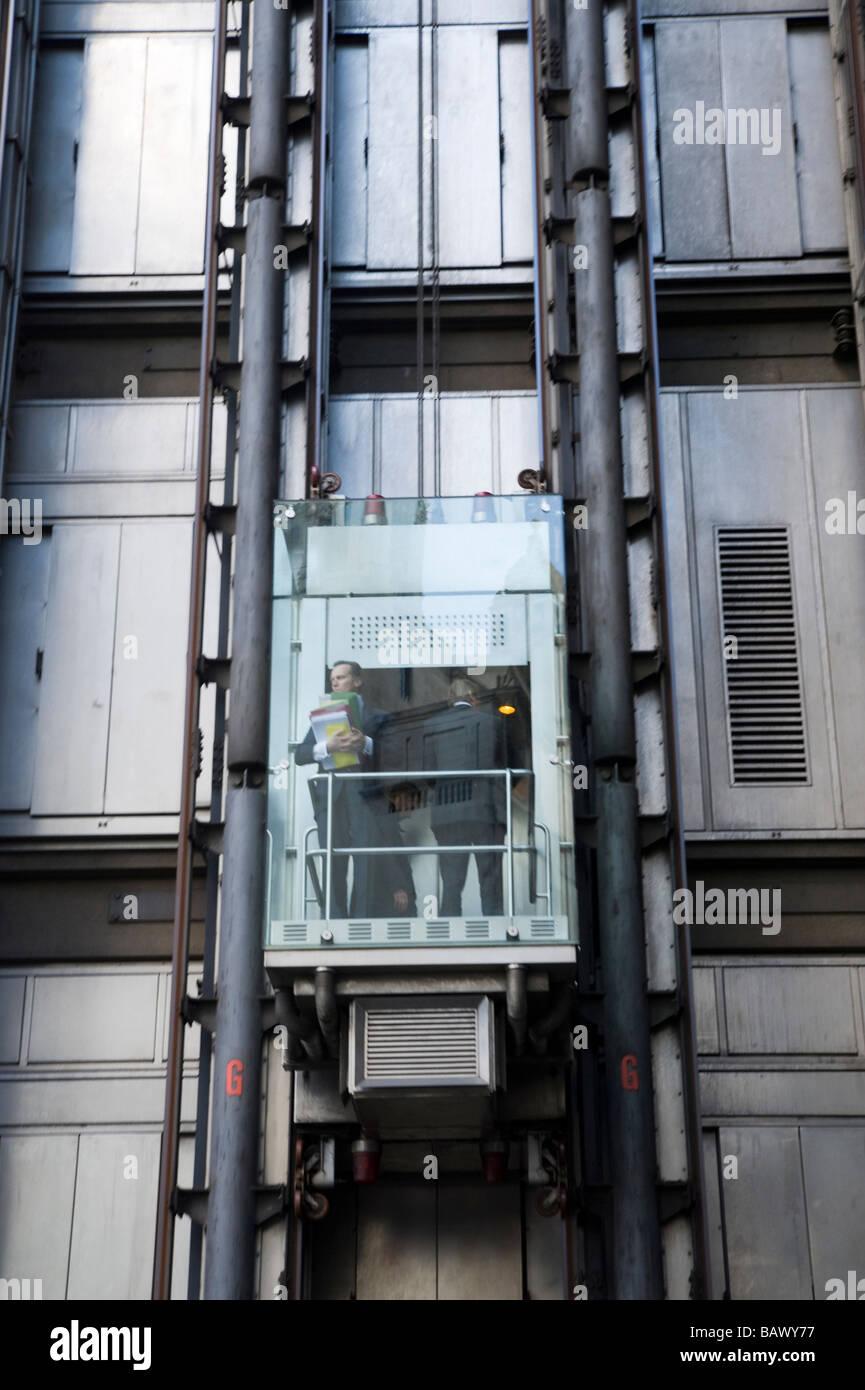 Lloyd's of London Lift - Stock Image