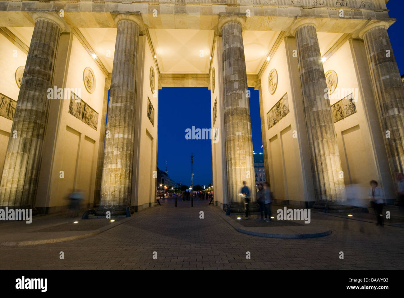 Brandenburg Gate Berlin Germany - Stock Image